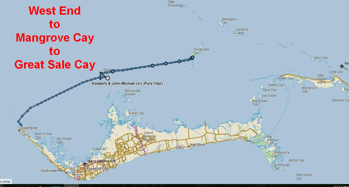 map to Great Sale Cay