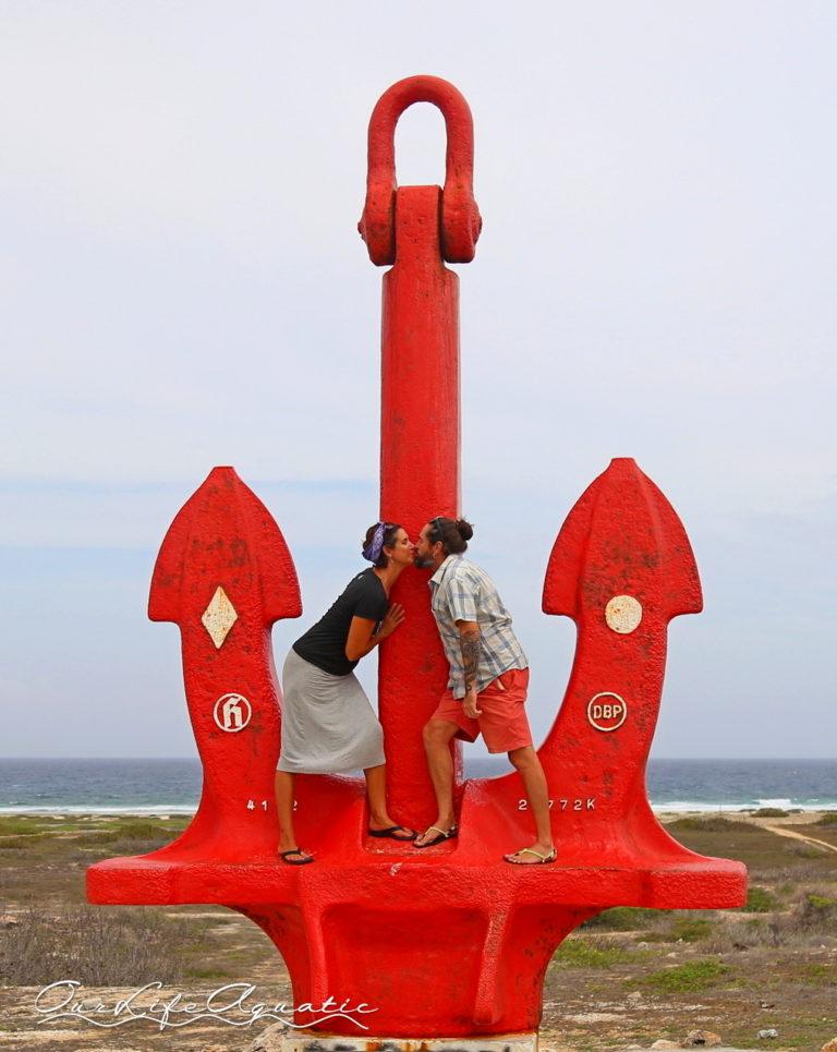 Reenacting the kiss in 2018