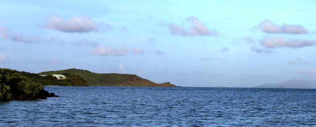 Anchorage at Almodovar with St. Thomas, USVI in the distance