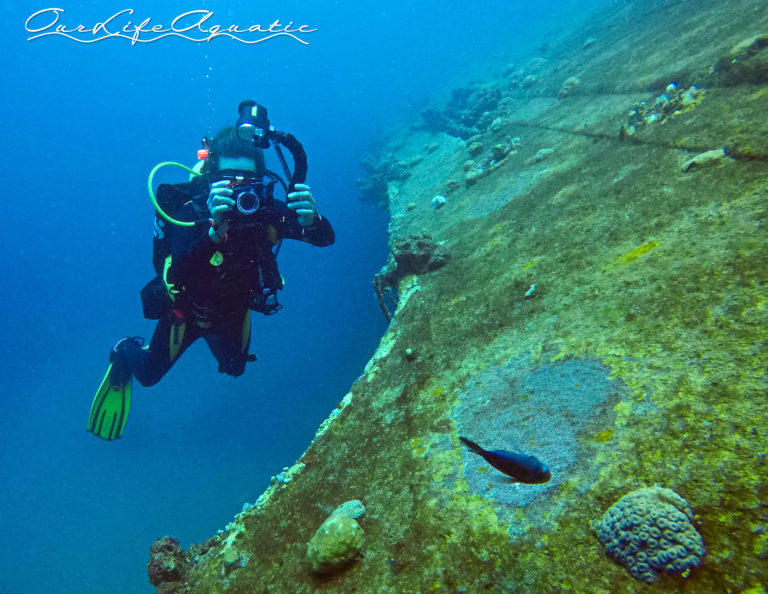 Trying out some new photo gear at the wreck of the Hilma Hooker