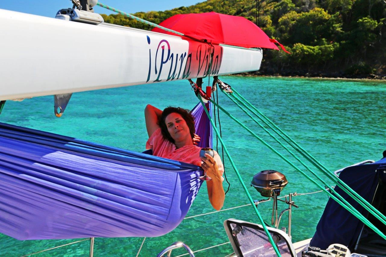 Kimberly chilled aboard...