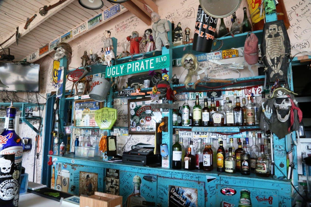 Corsair's has an impressive beach bar