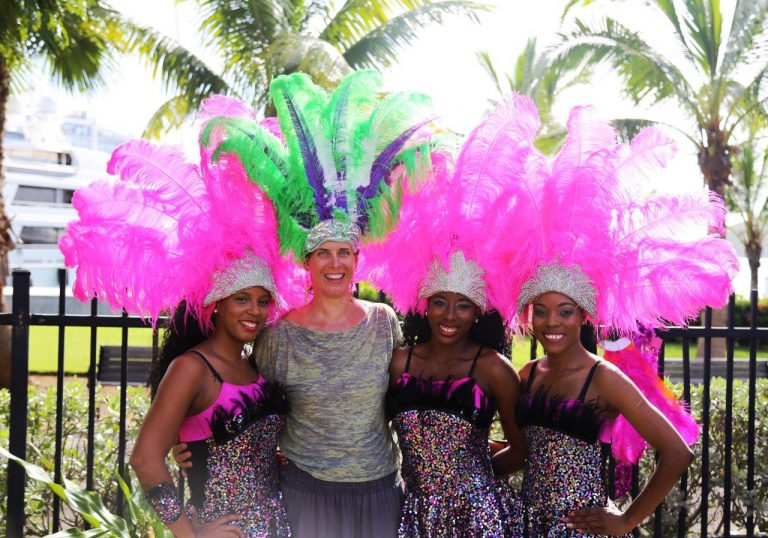 These ladies perform during Carnival