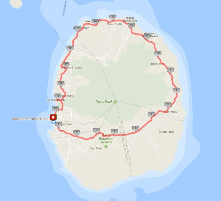 The 20-mile bike ride around the island made for a great tour