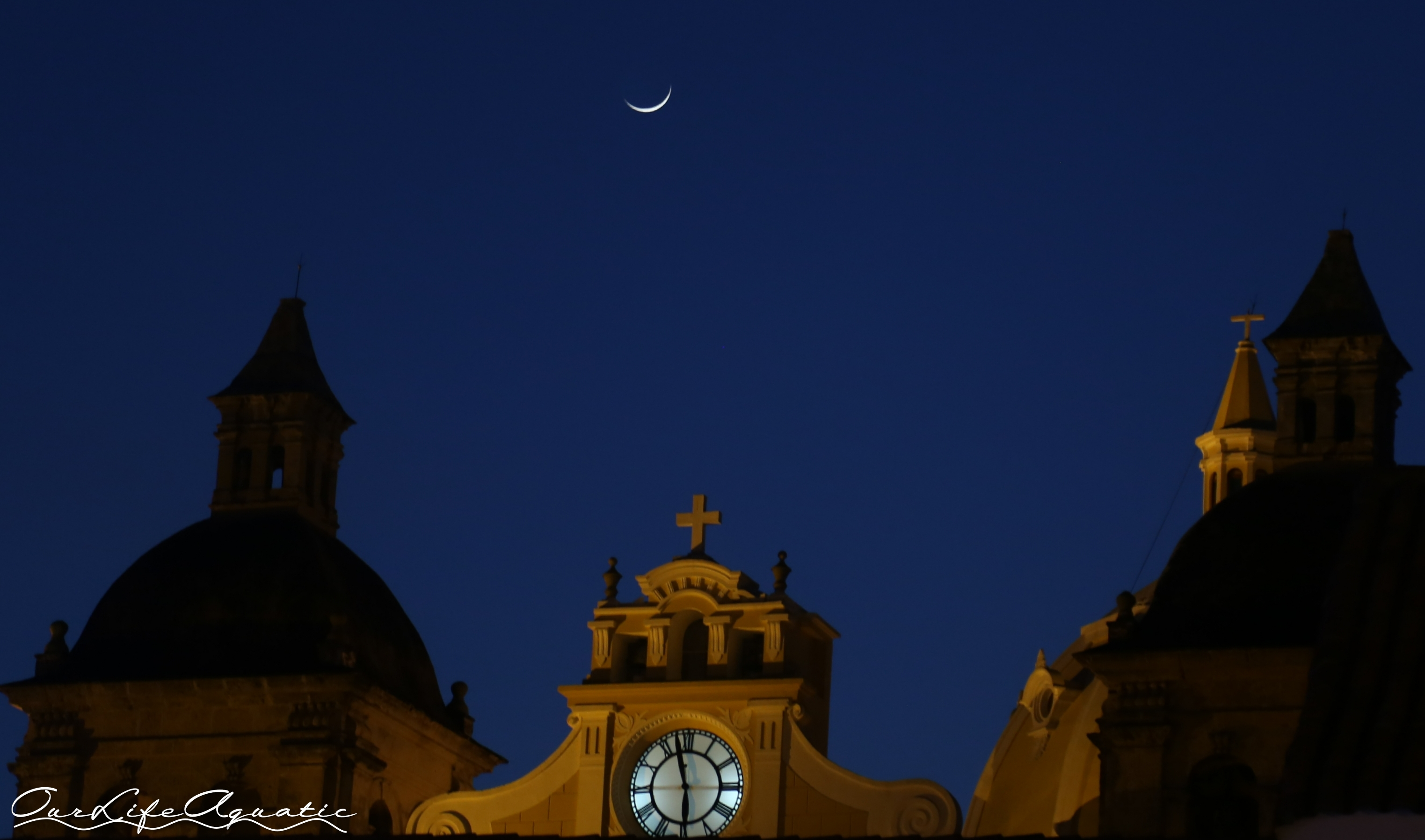 Moon over the cathedral