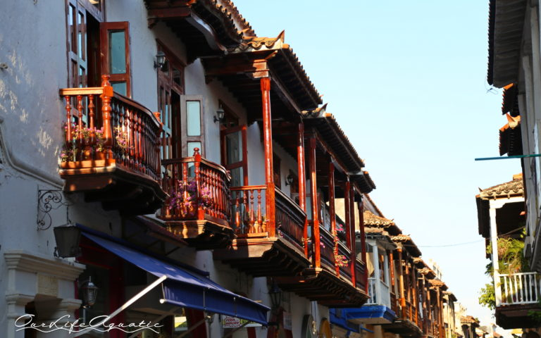Balconies adorn every street