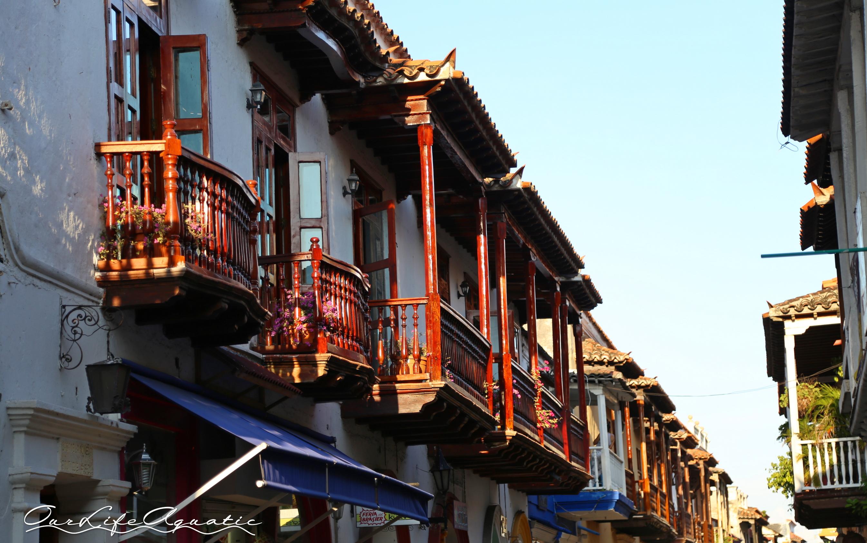 Balconies adorn every street