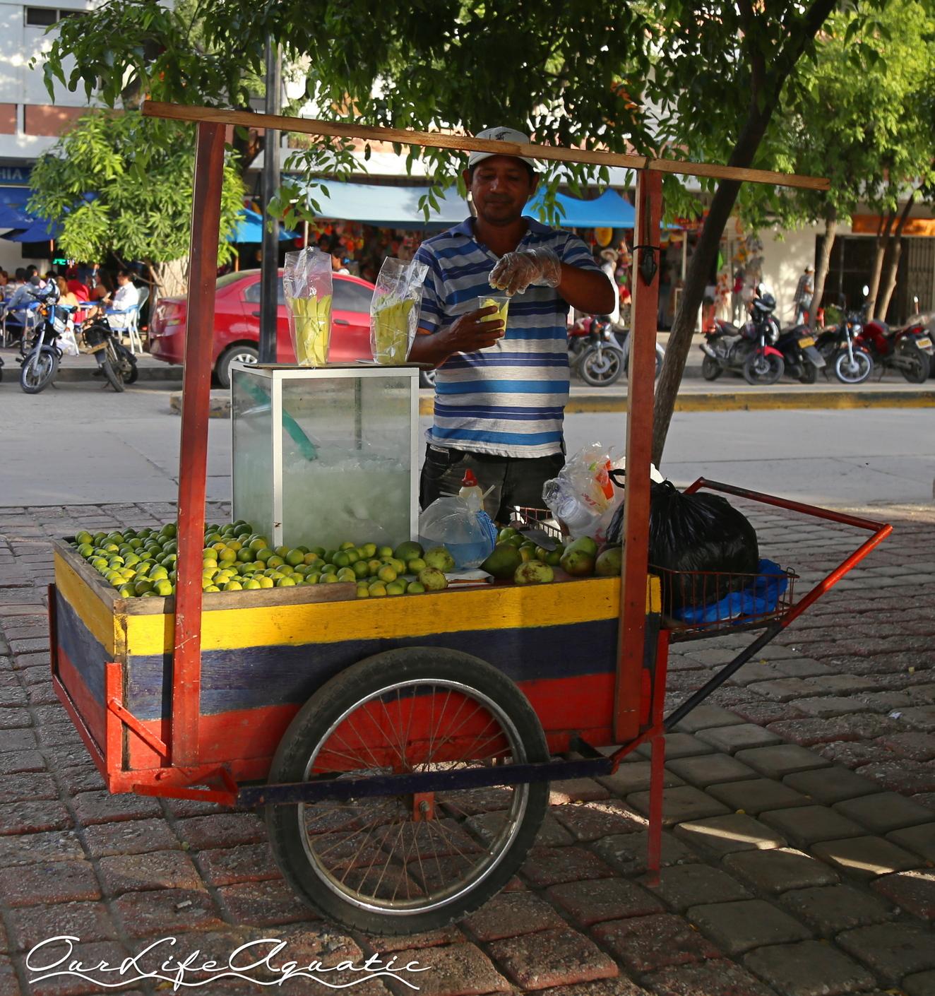 Salted mango vendor
