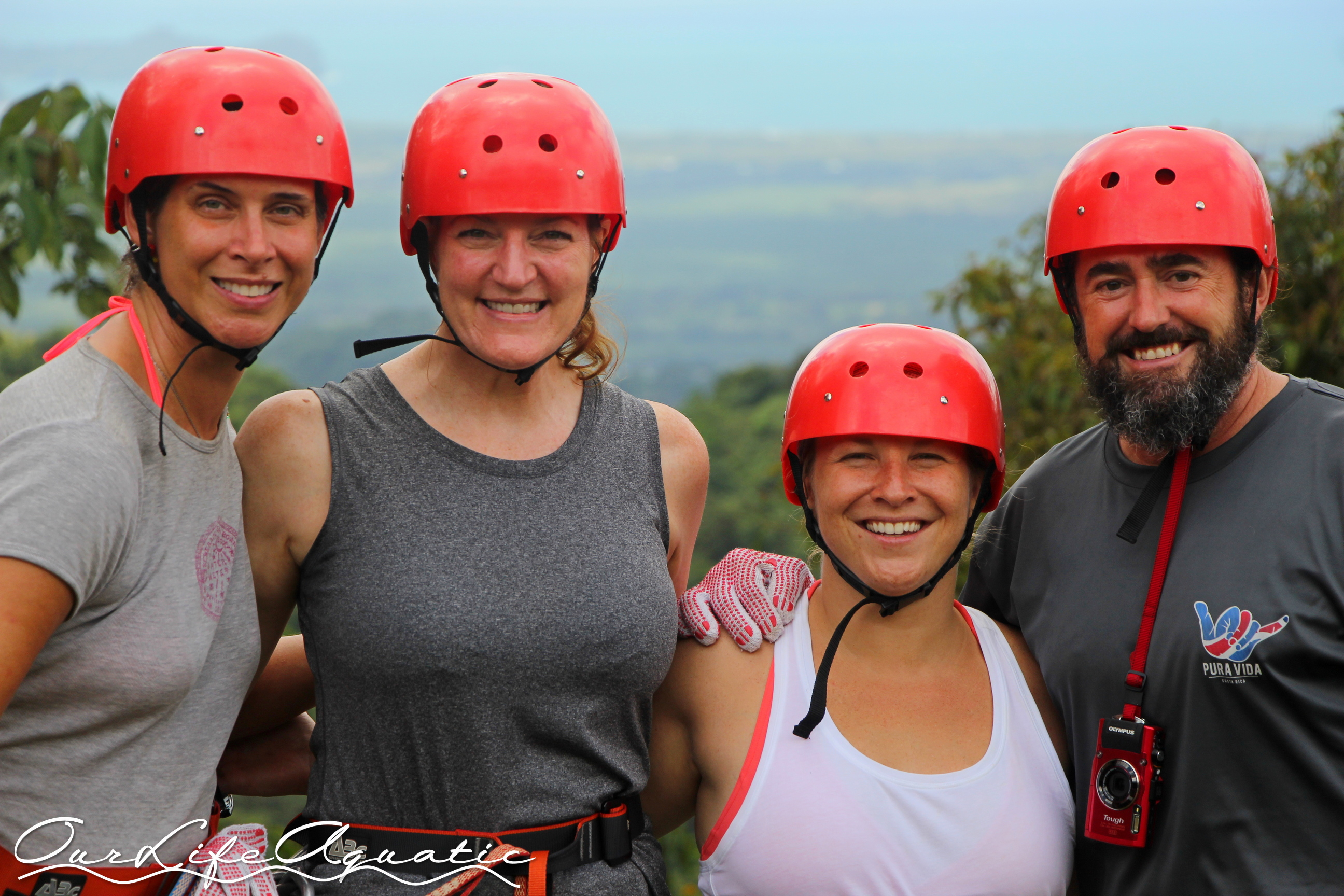 Ready for the Zipline with Michelle and Ashley