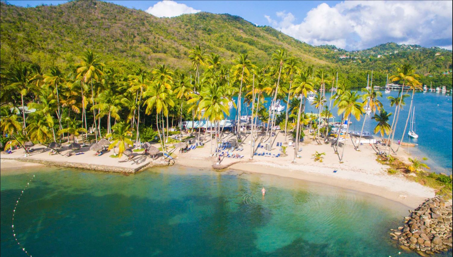Marigot Bay Beach (Photo Credit: Capella Resort)