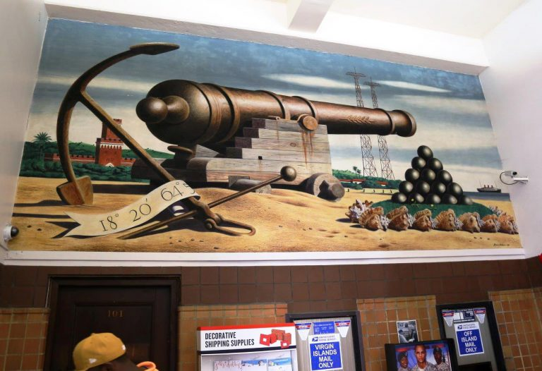 Mural at downtown post office
