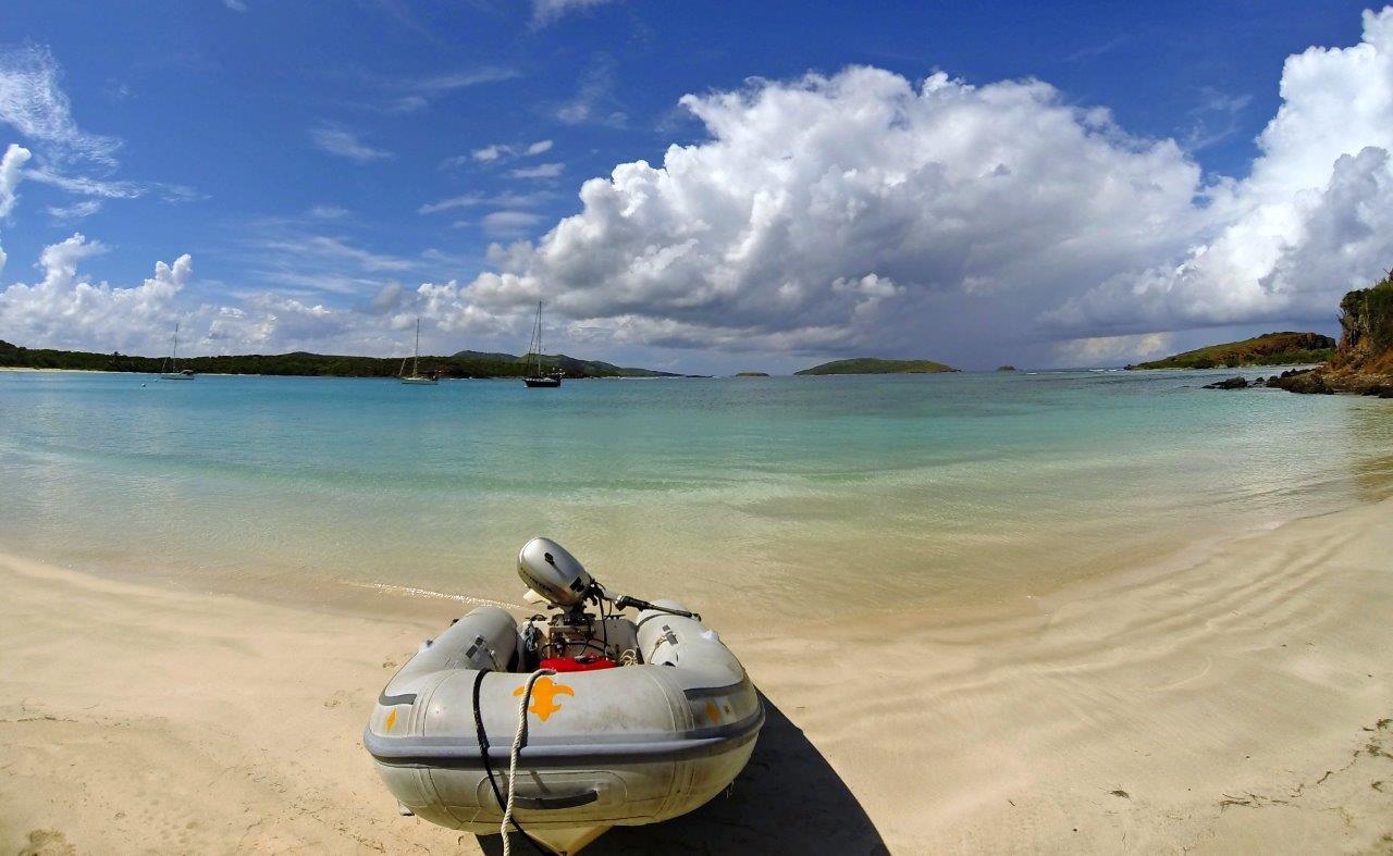Culebrita anchorage and beach