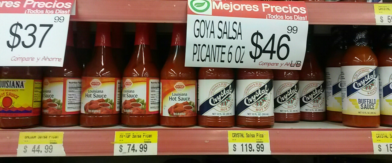 I was delighted to find Crystal and Louisiana hot sauces all over the DR. I wish I'd picked up more, because that was the last place I saw it.