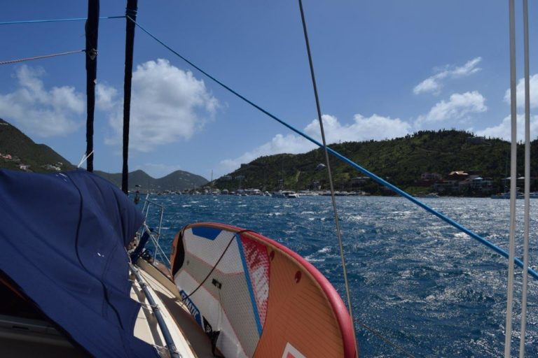 Arrival at Jost Van Dyke (Photo credit: Ashley Hoover)