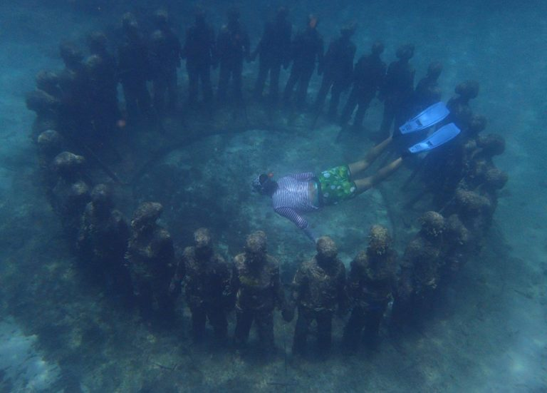 The underwater sculpture garden is a must see