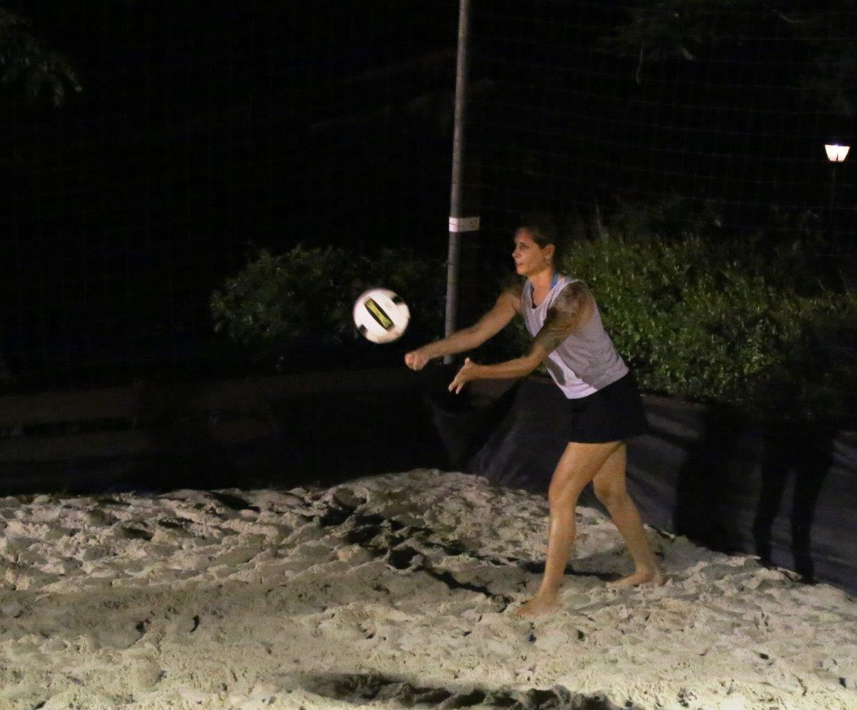 Kimberly even played in a weekly volleyball game