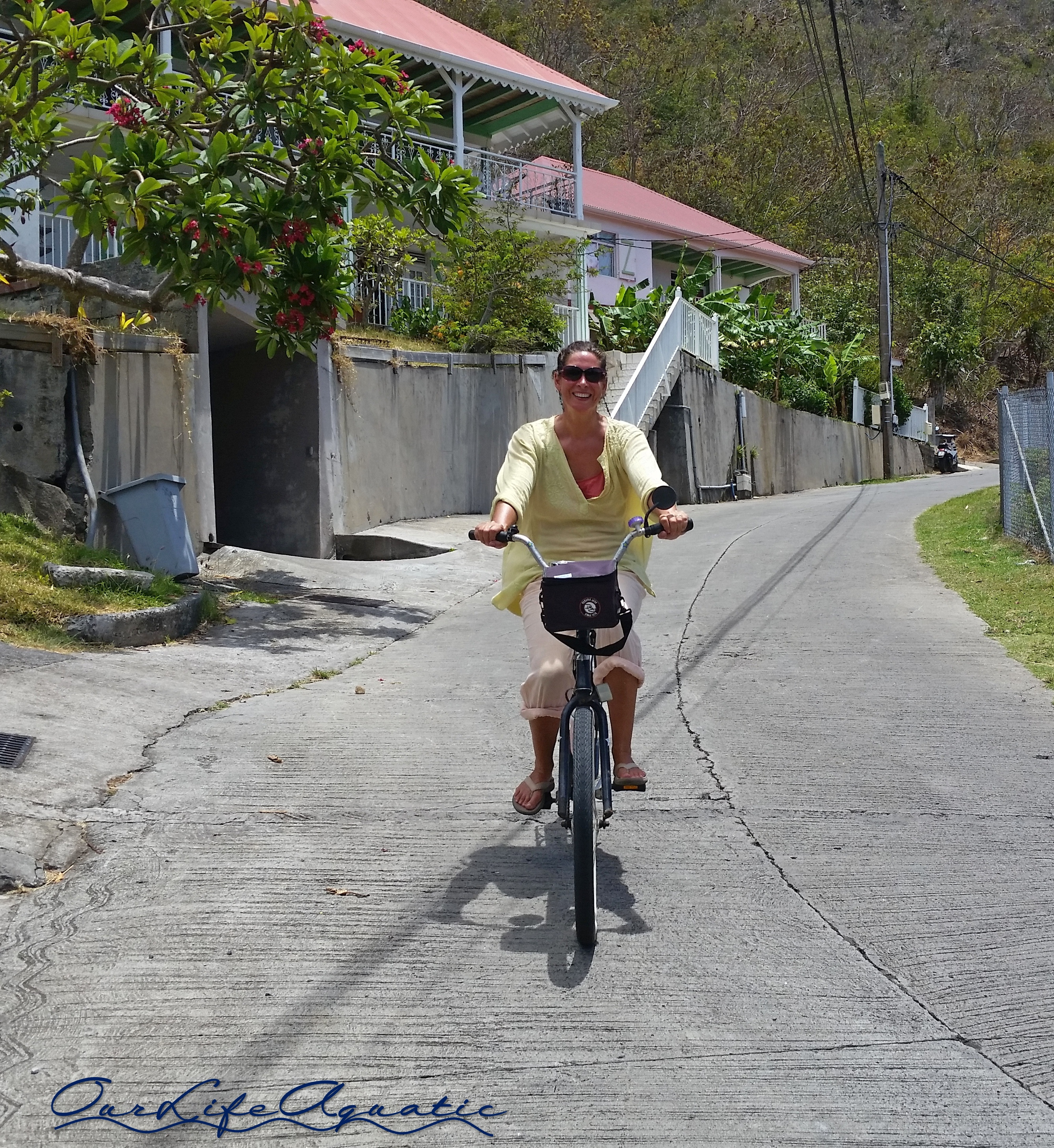 We got our bikes out to tour Îles des Saintes
