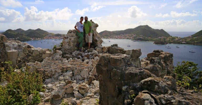 At Fort Josepjine with Terre-de-Haut in background