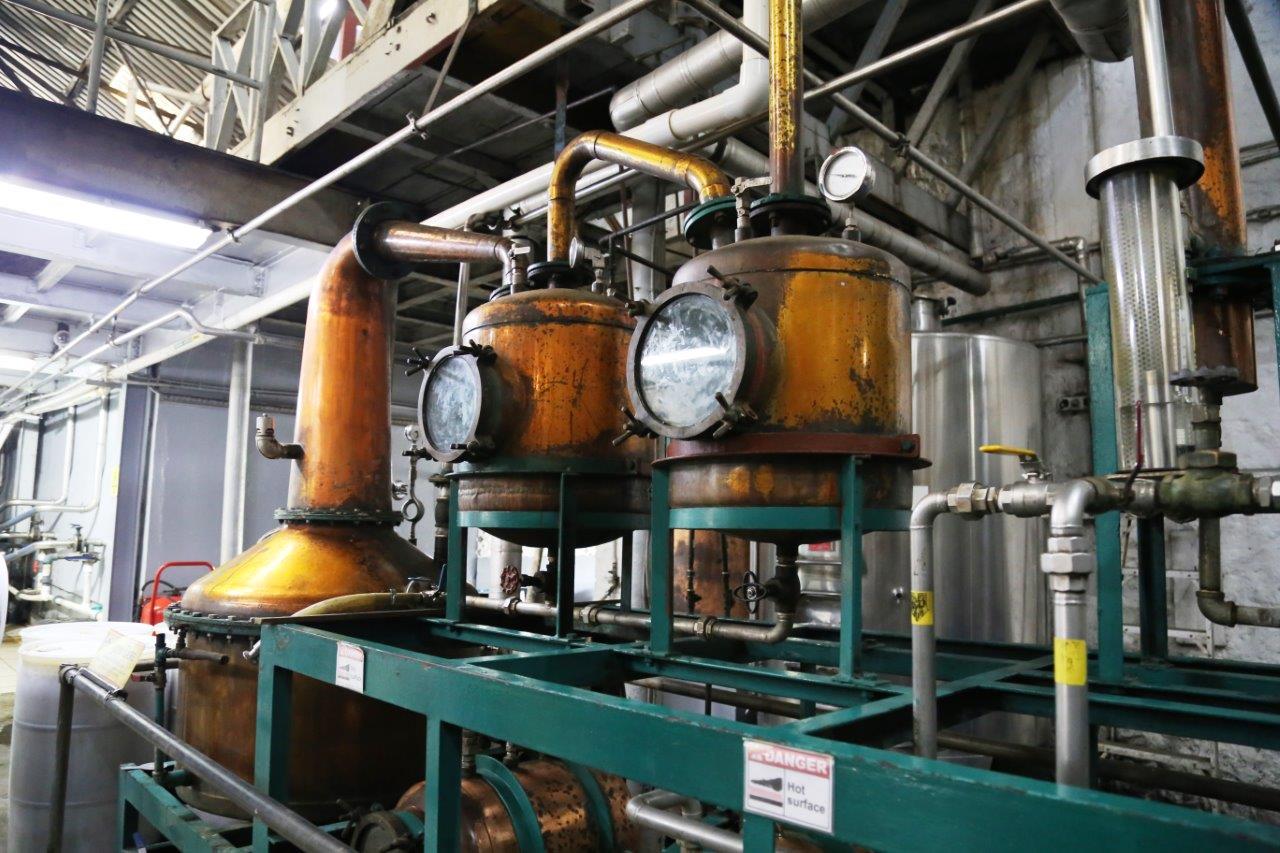 Copper still tanks