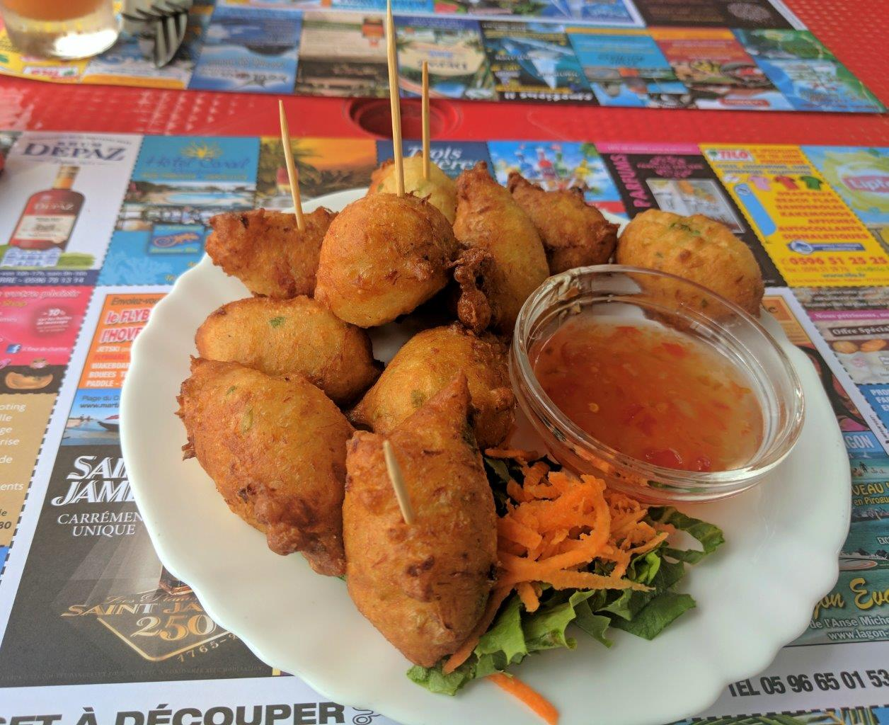 """We discovered """"accras"""", Martinique's delicious, signature codfish fritters"""