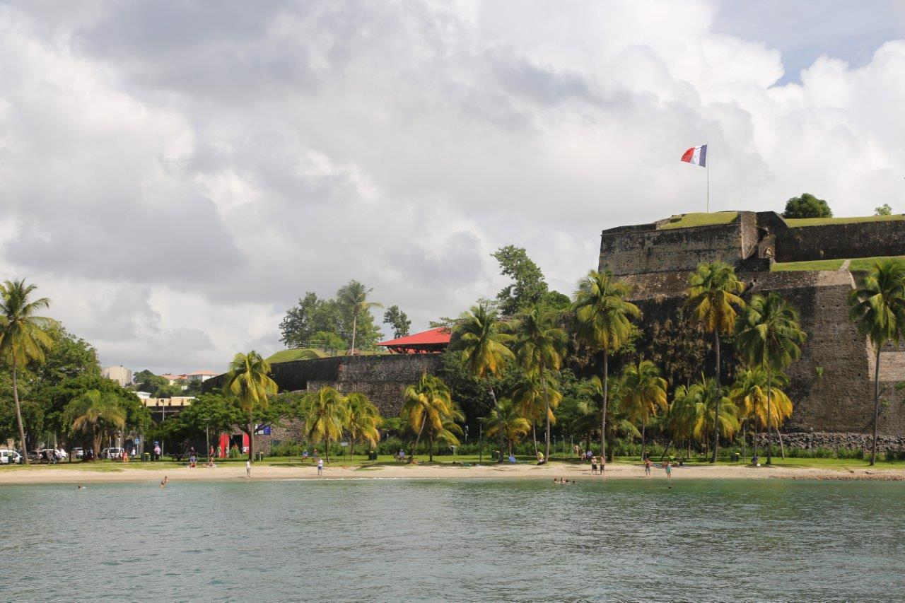 The anchorage in Fort de France
