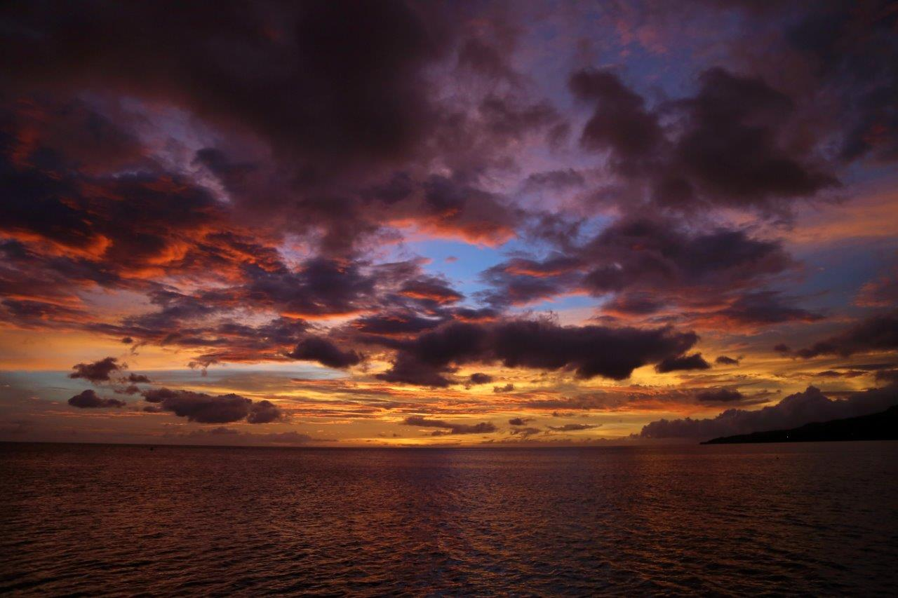 Stunning sunsets in Martinique