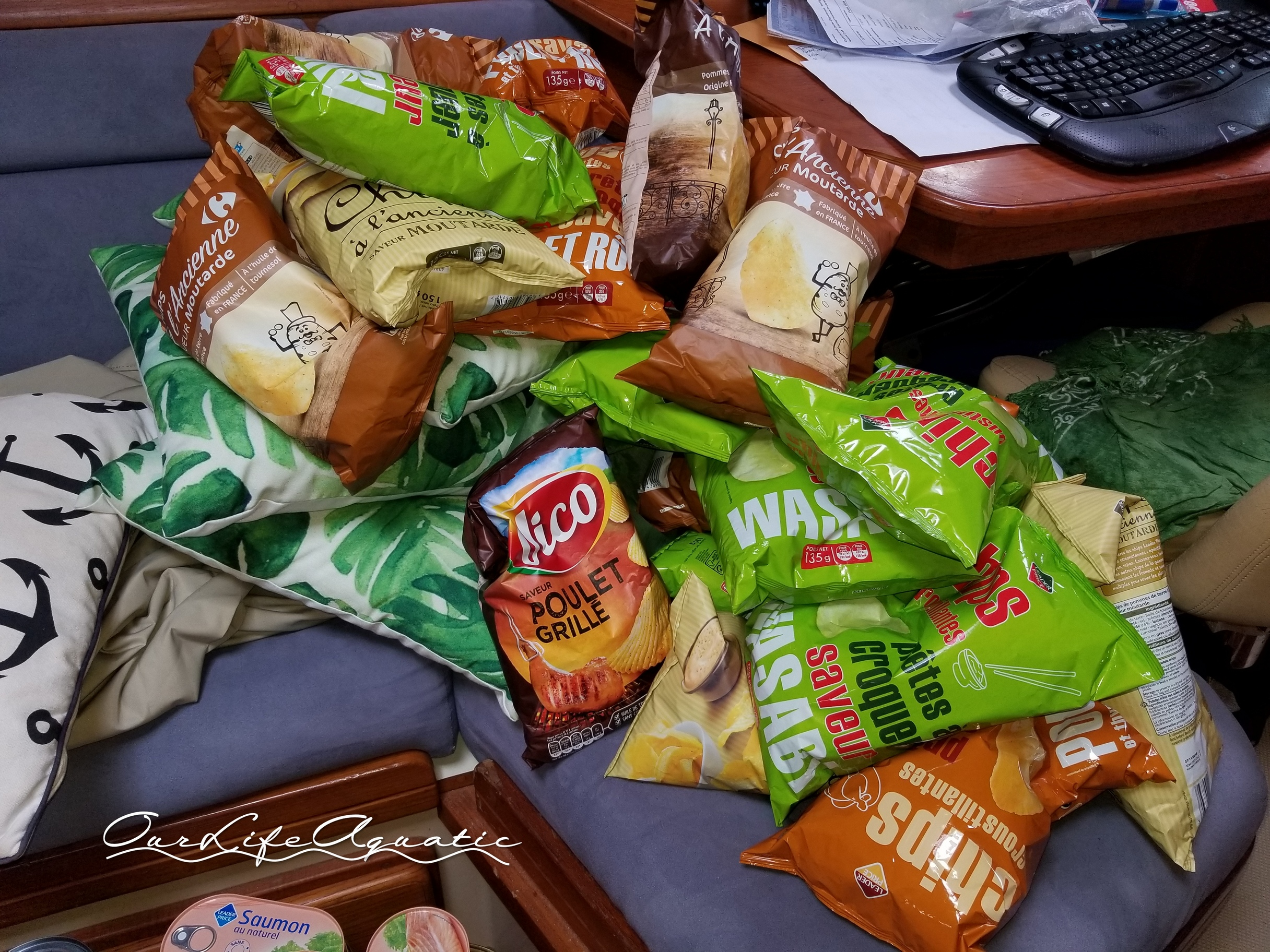 The French make the best flavored chips: Dijon mustard, roasted chicken, and wasabi