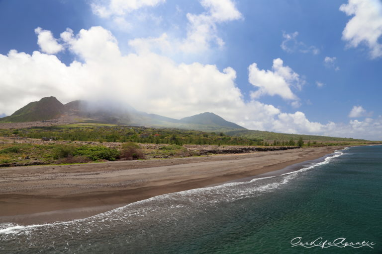 This beach did not exist before the 1997 eruption. In fact, the ash flow added a mile to the island's square footage