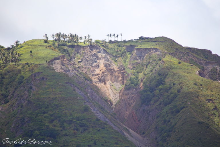 The earth is frequently shifting in Montserrat.
