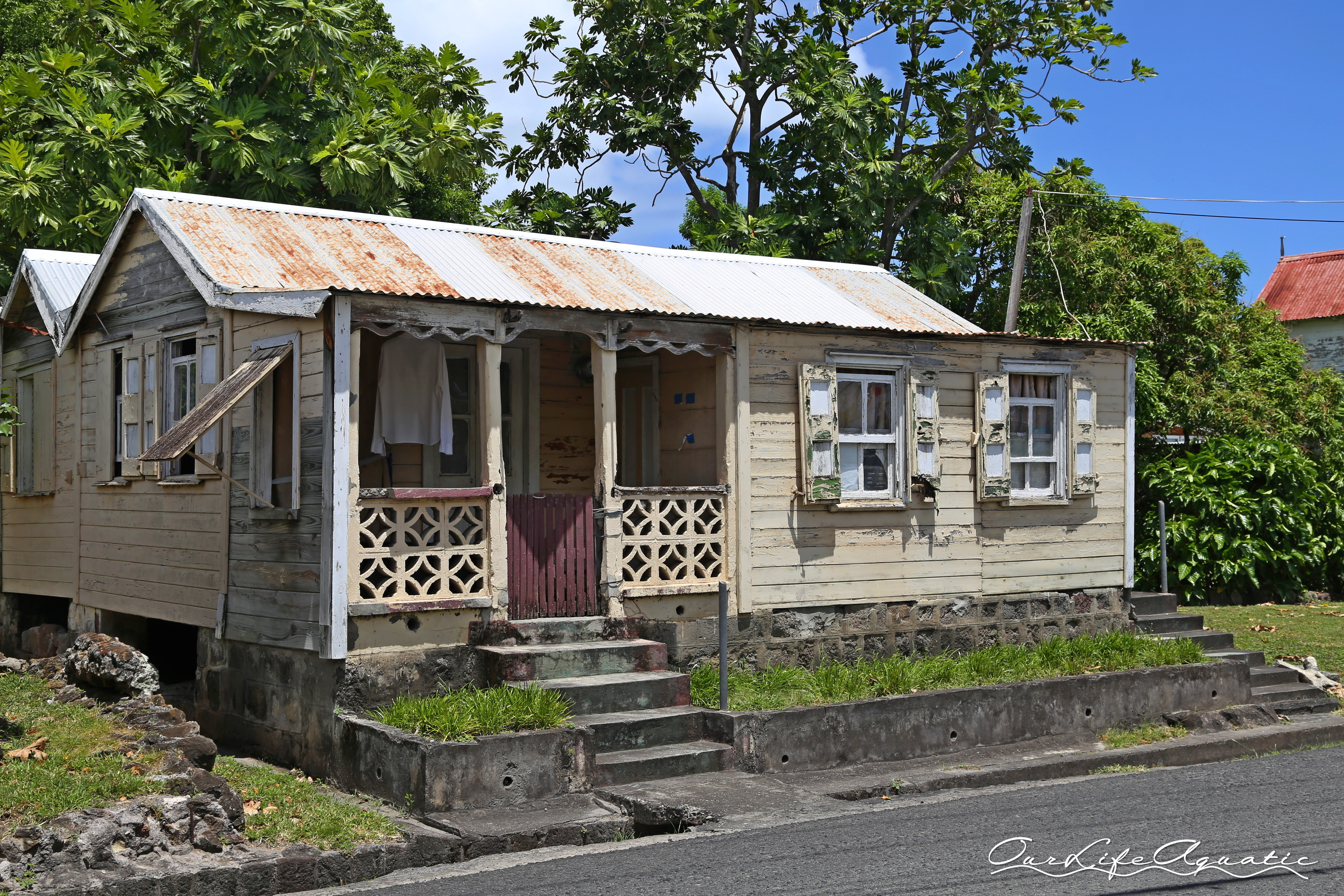Quaint cottages line the streets of Charlestown