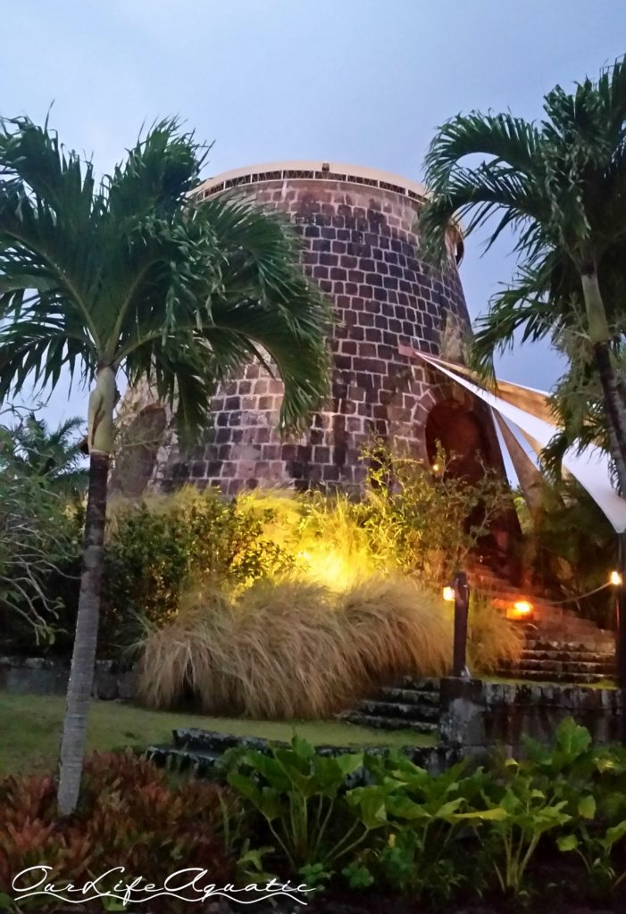 Dining in a sugar mill by candlelight was a remarkable experience