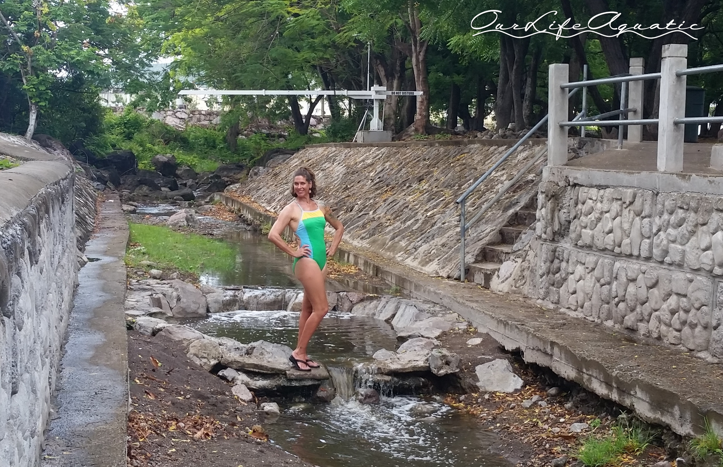Hot springs river next to baths