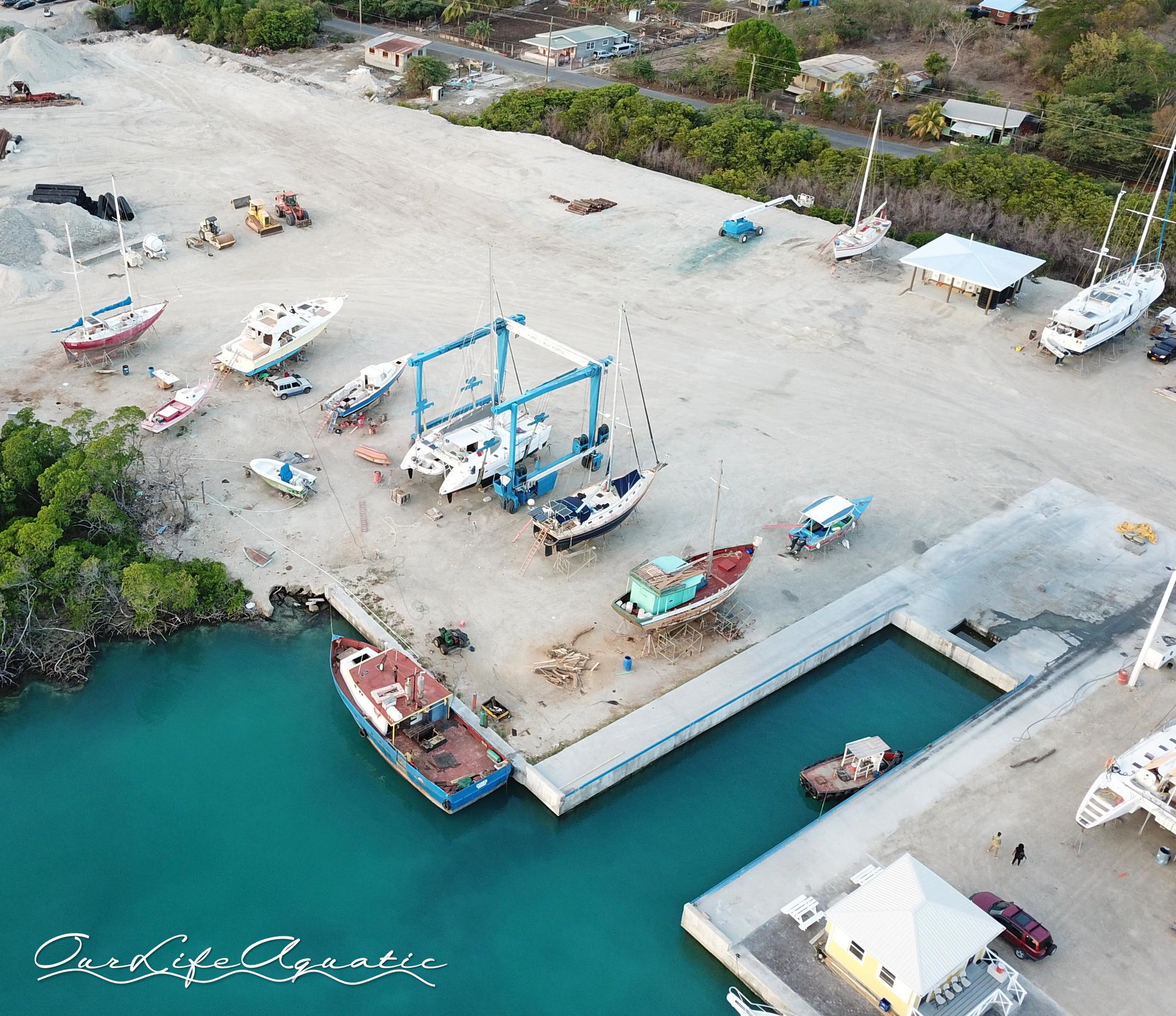Pura Vida in the boat yard