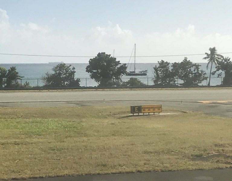 View of Pura Vida from airport runway (Photo Credit: Ashley Hoover)