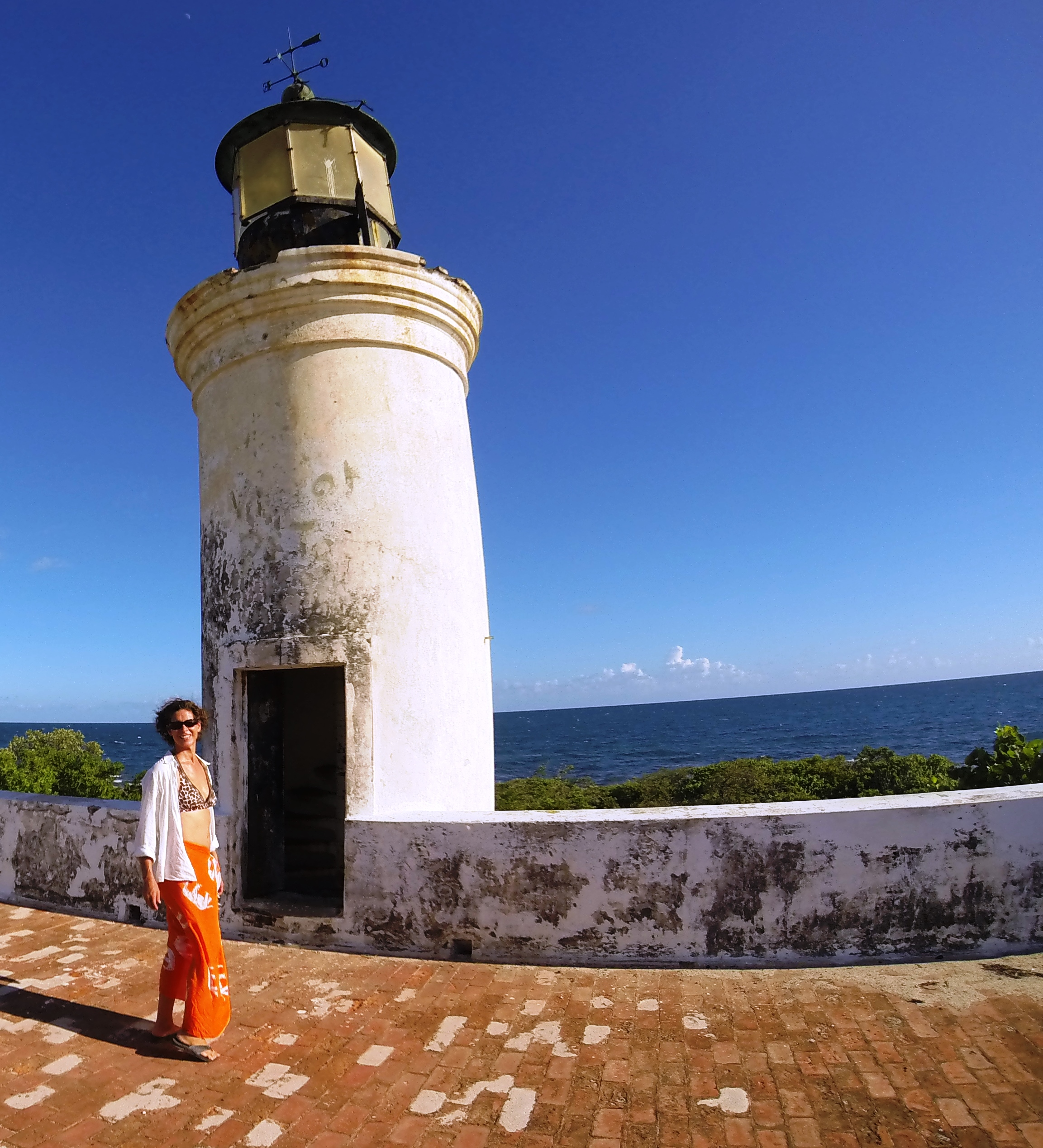 Lighthouse on Isla Cardona, a small island two miles west of Ponce.