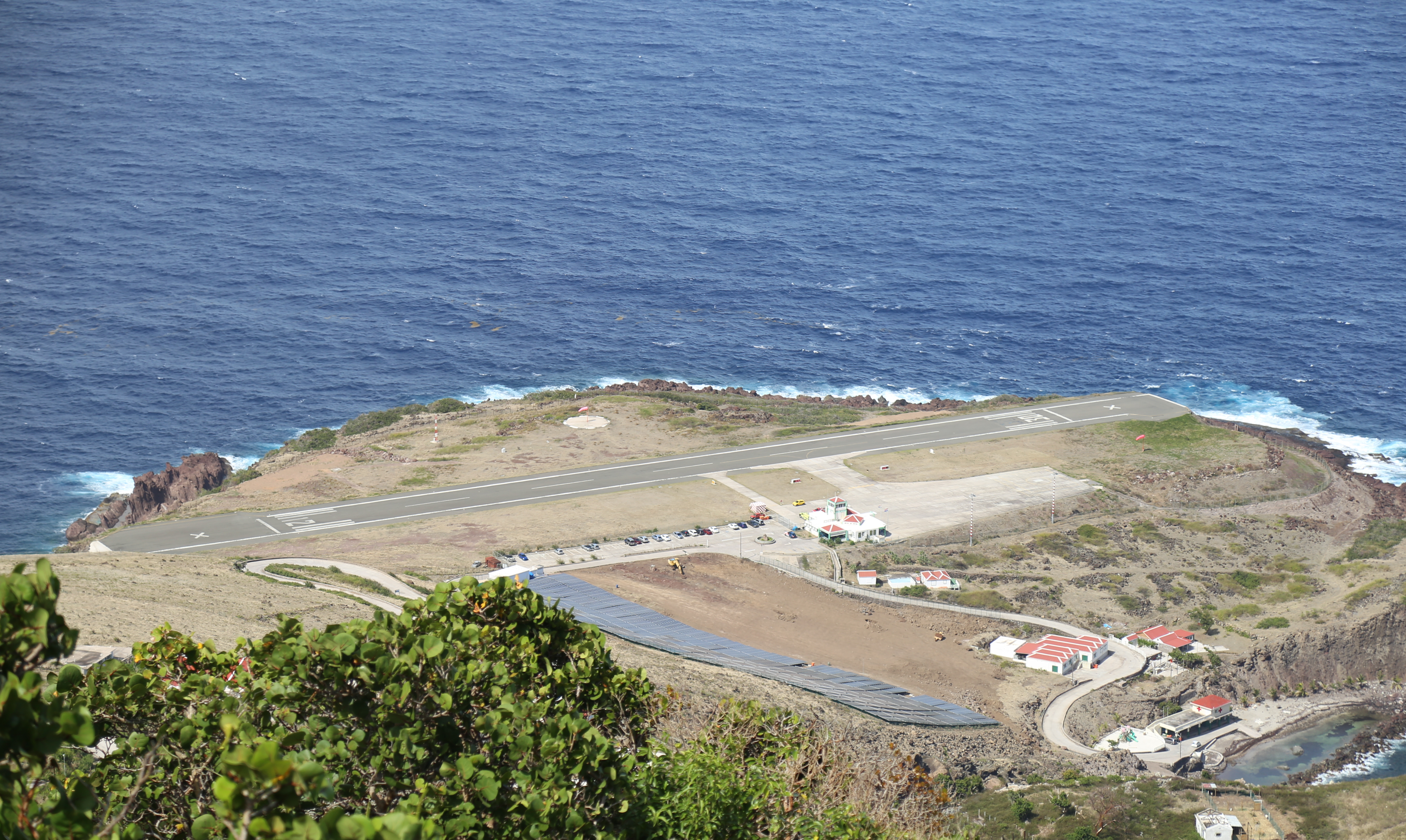 Saba airport. They say it's like landing on an aircraft carrier