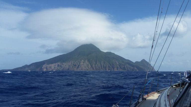 Approaching Saba