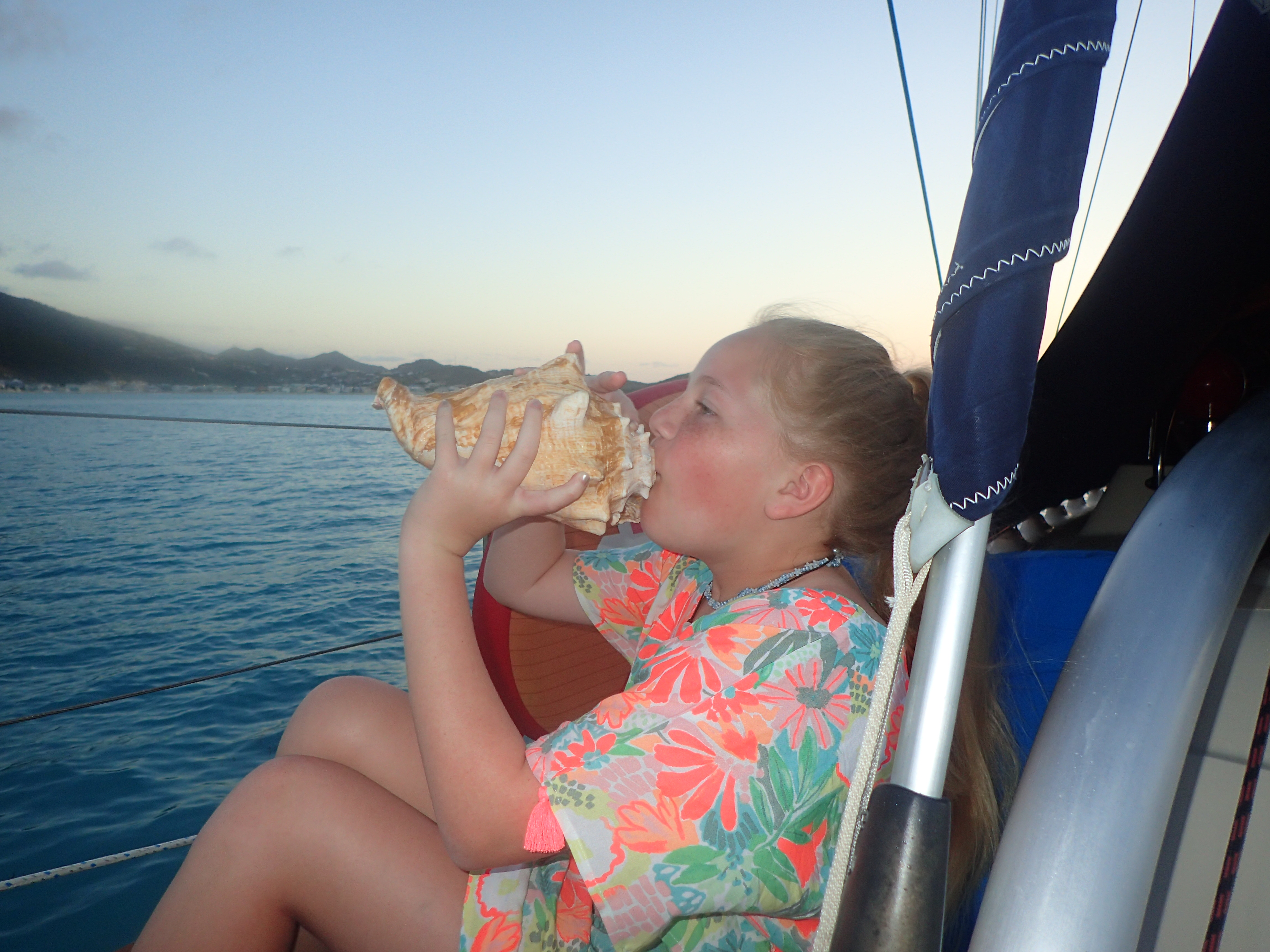 Learning to blow the conch horn