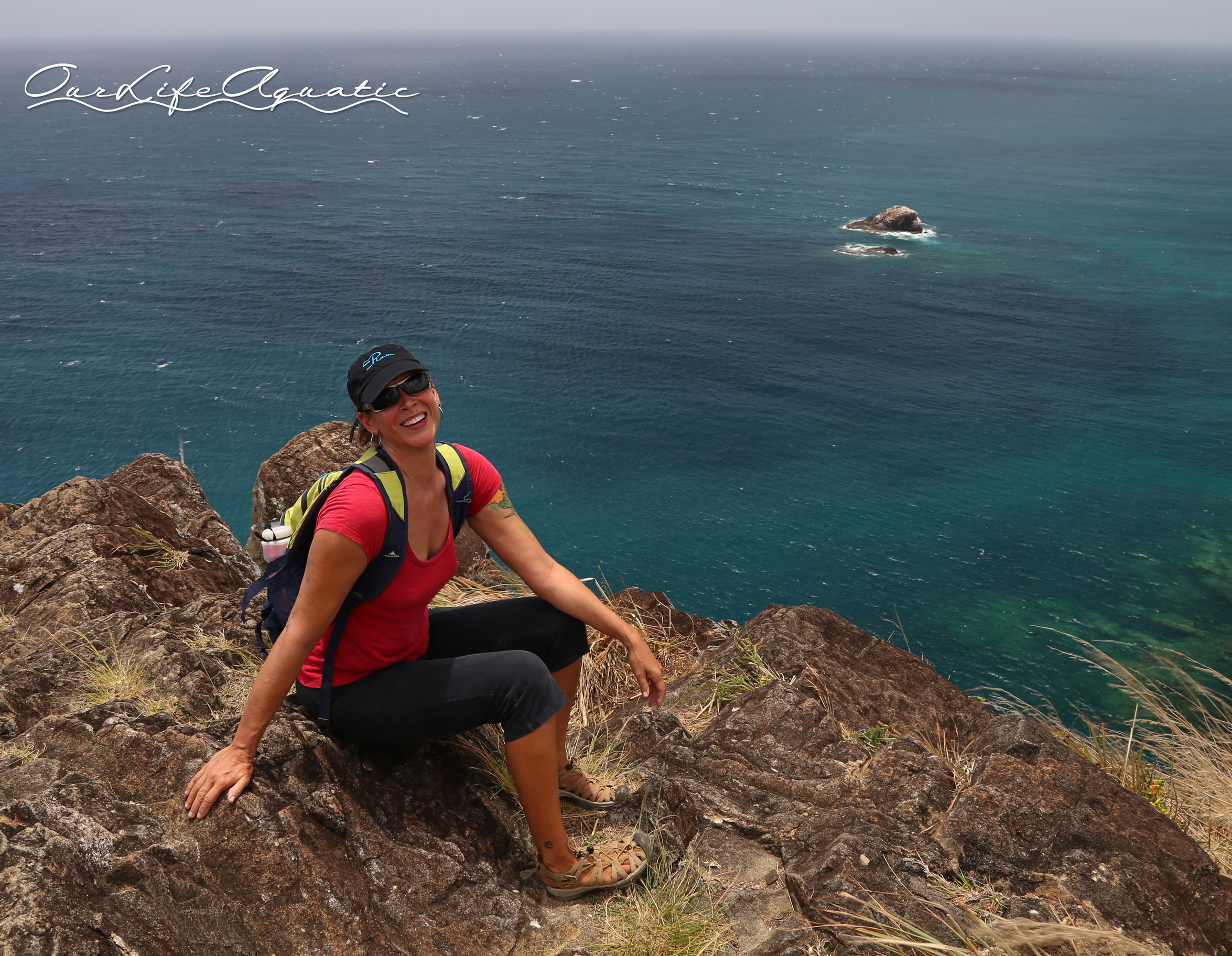 Top of Signal Hill, Pigeon Island National Park