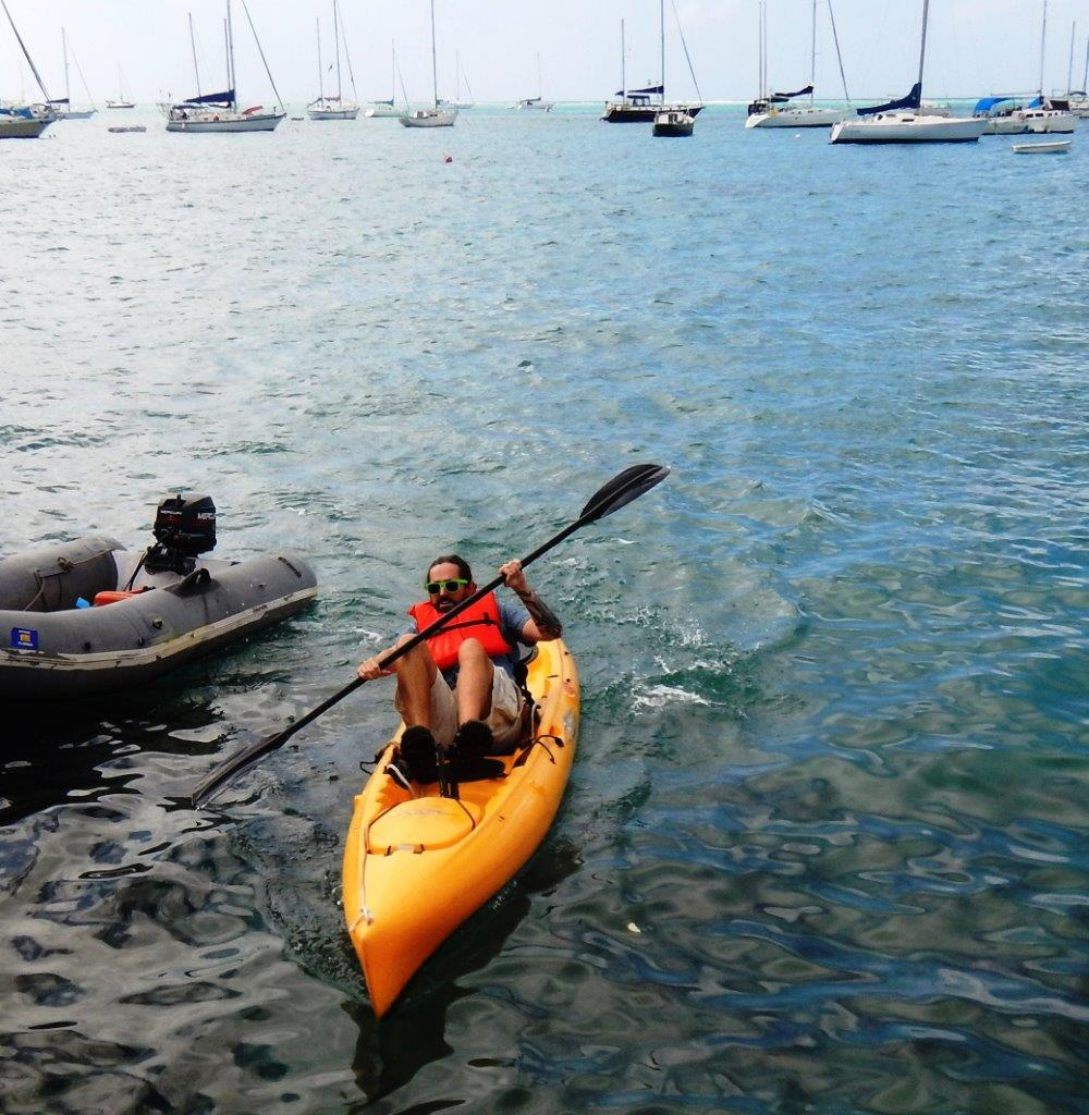 I drew the short straw, so I was my team's rep on the the kayak speed course