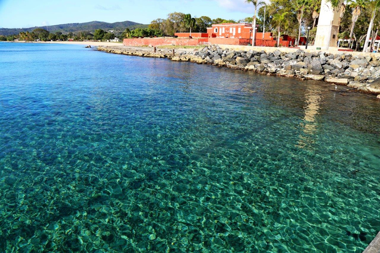 Waterfront by Frederiksted Pier and old fort