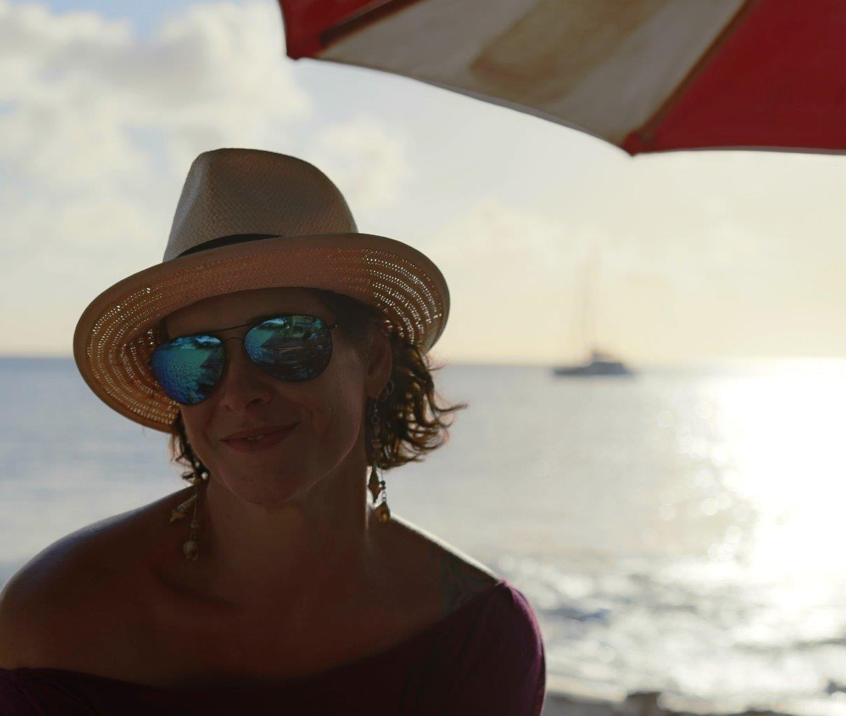 Enjoying a sundowner at Freedom City Surf Shop