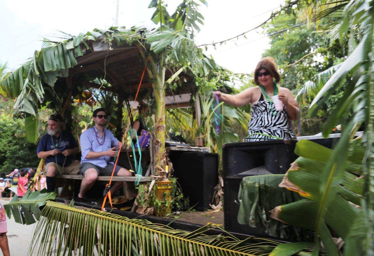 Jungle-themed float