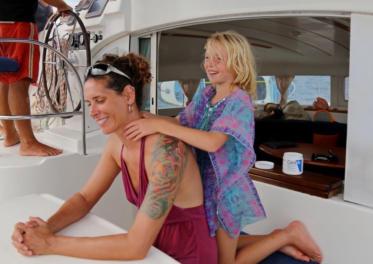 The luxury sail included massages by Erin