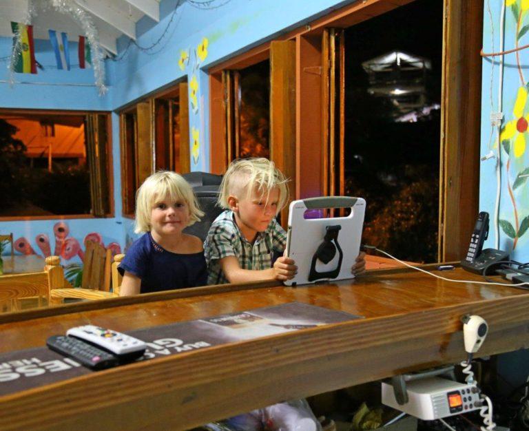 Boat kids in bars
