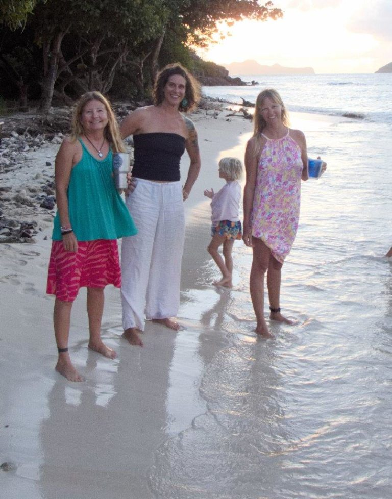 Ashore with friends from sv Ketchy Shuby and sv Kailani