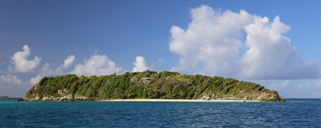 This beach was swimming distance from our anchorage in Tobago Cays