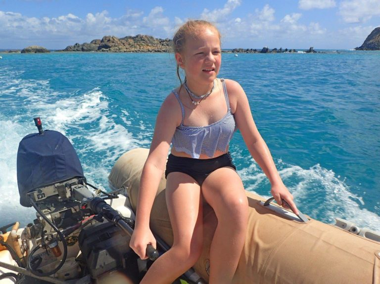 Learning to drive our dinghy, Lagniappe