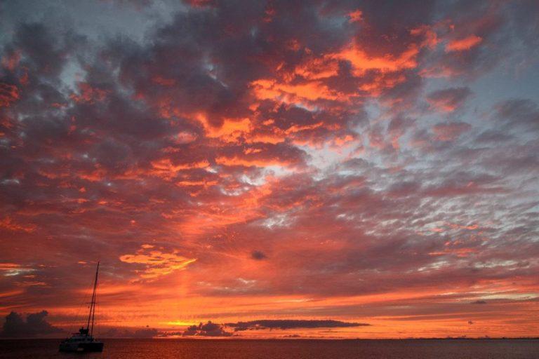 Sunset in Grand Case