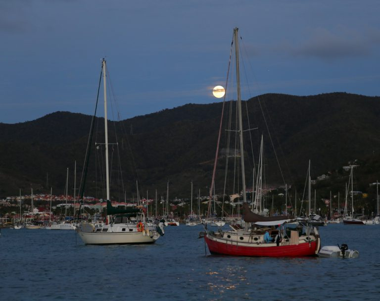 Moonrise over Marigot Bay
